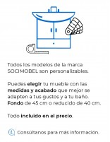 Muebles de baño personalizados de Socimobel