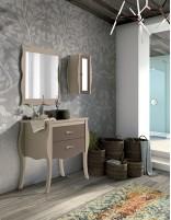 Mueble baño vintage con lavabo modelo TUI de Socimobel