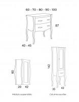 Mueble con lavabo RONDA - medidas