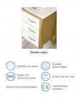 Mueble  vintage modelo MORELLA de Socimobel - detalles