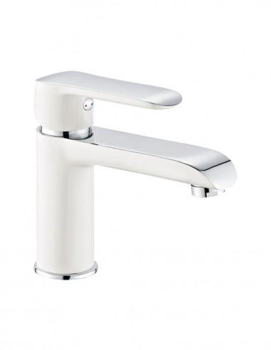 Grifo lavabo blanco - cromo monomando...