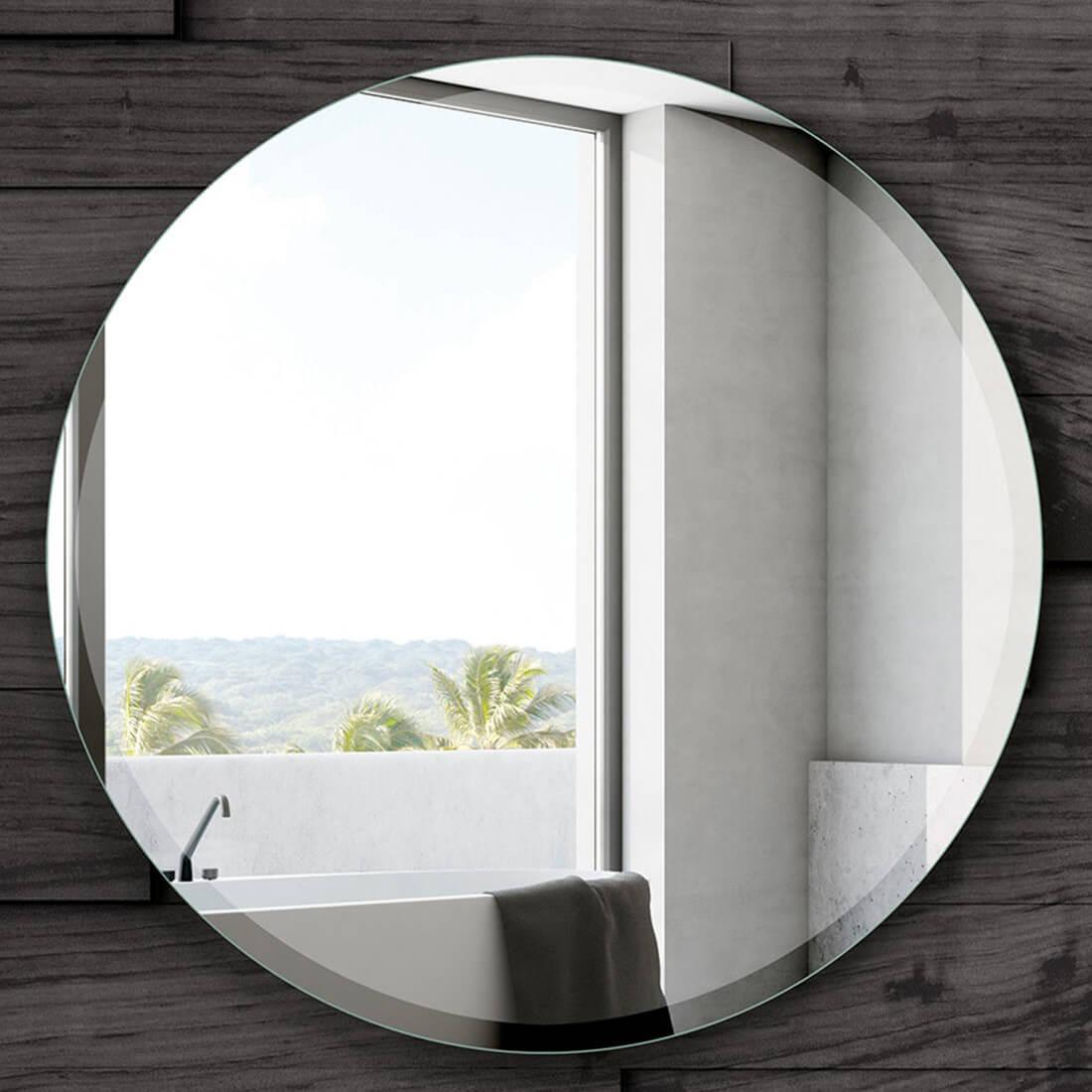 Espejo de baño redondo sin marco de PyP
