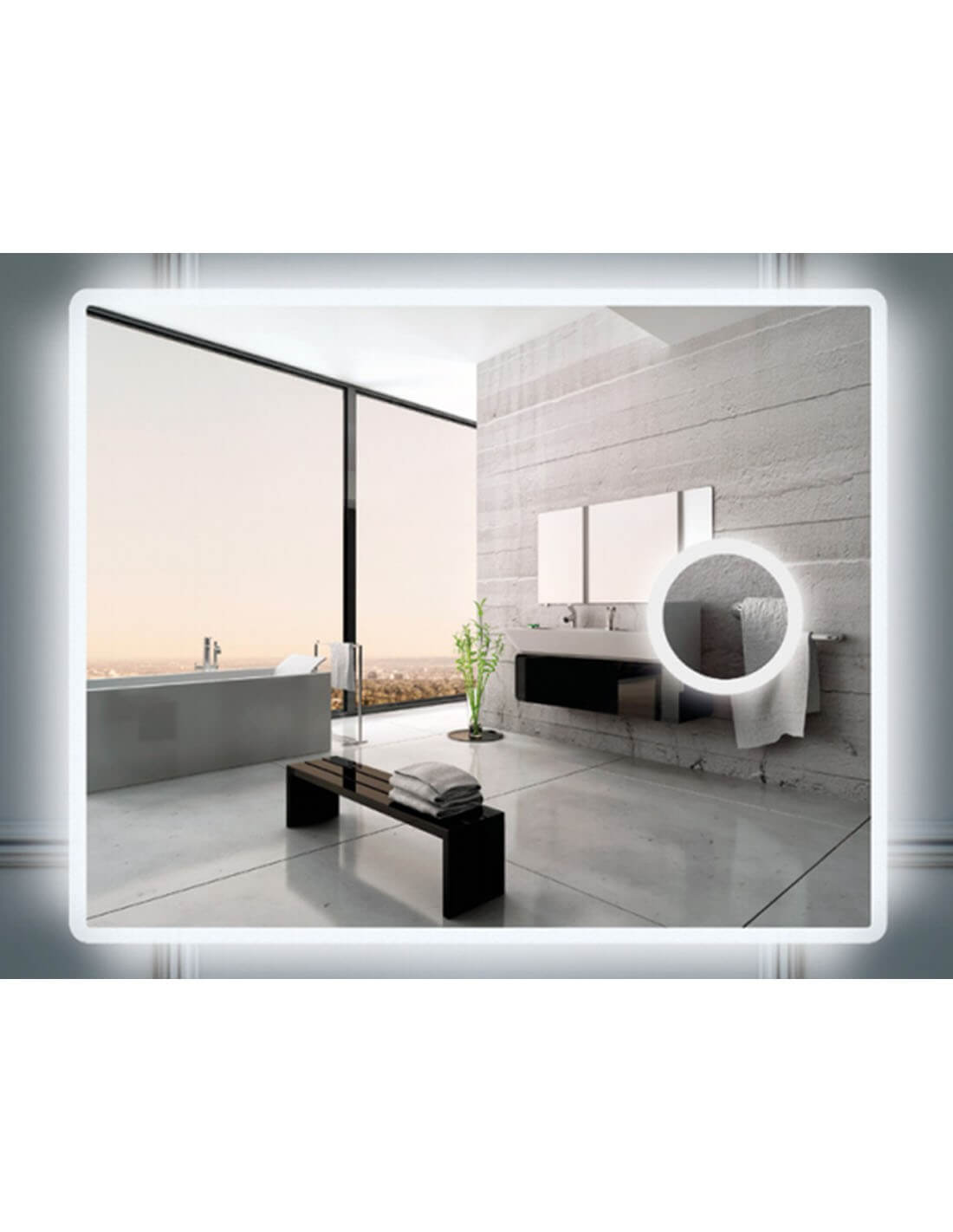 Espejo led rectangular con aumento de PyP