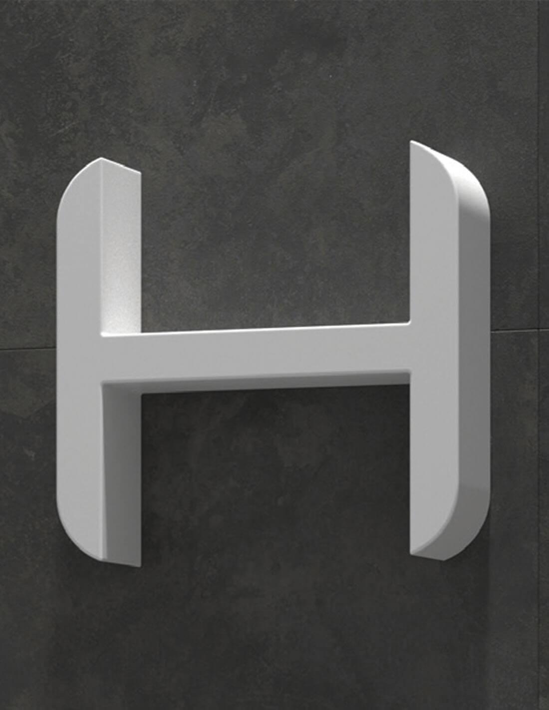 Estante para baño con forma de H
