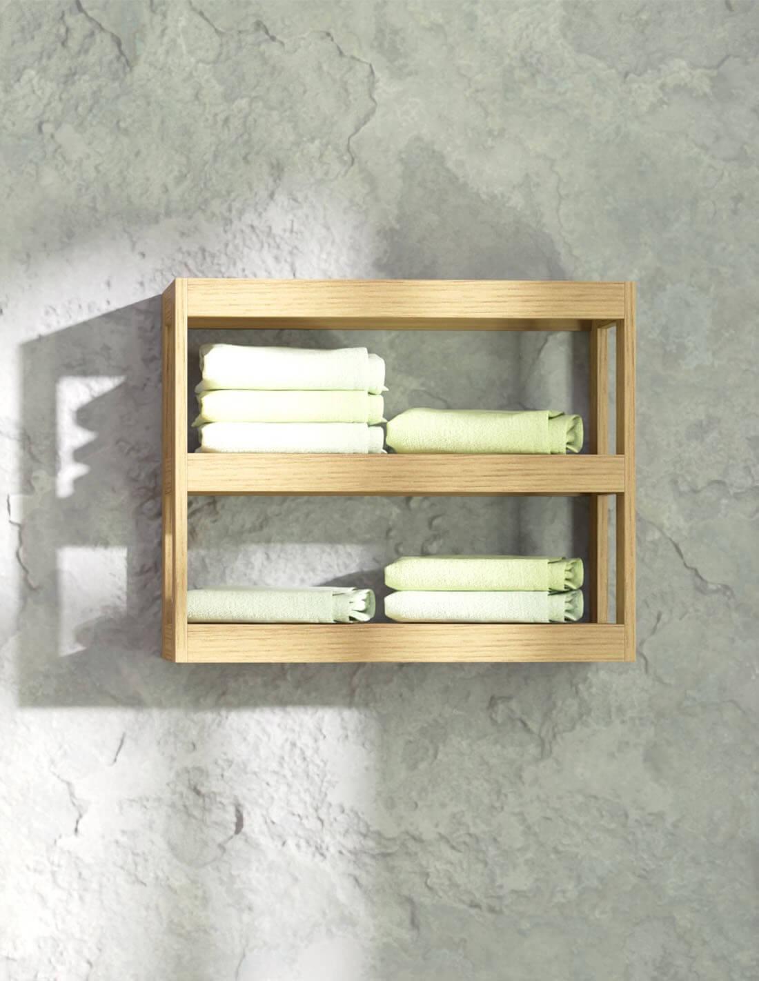 Estantería de madera rústica de Bathforte