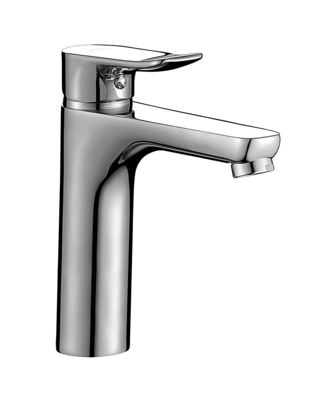 Grifo de lavabo con caño alto de Aquassent