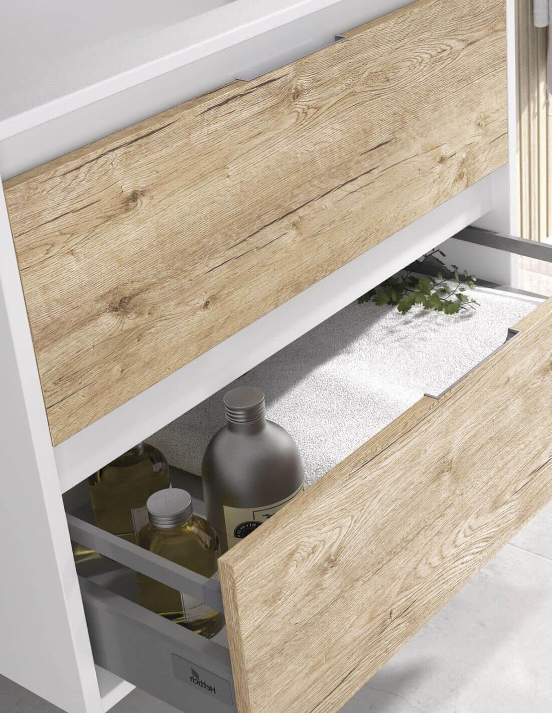 Mueble de baño con cajones de extracción total