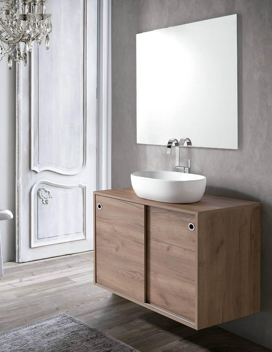 Mueble de baño con puertas correderas