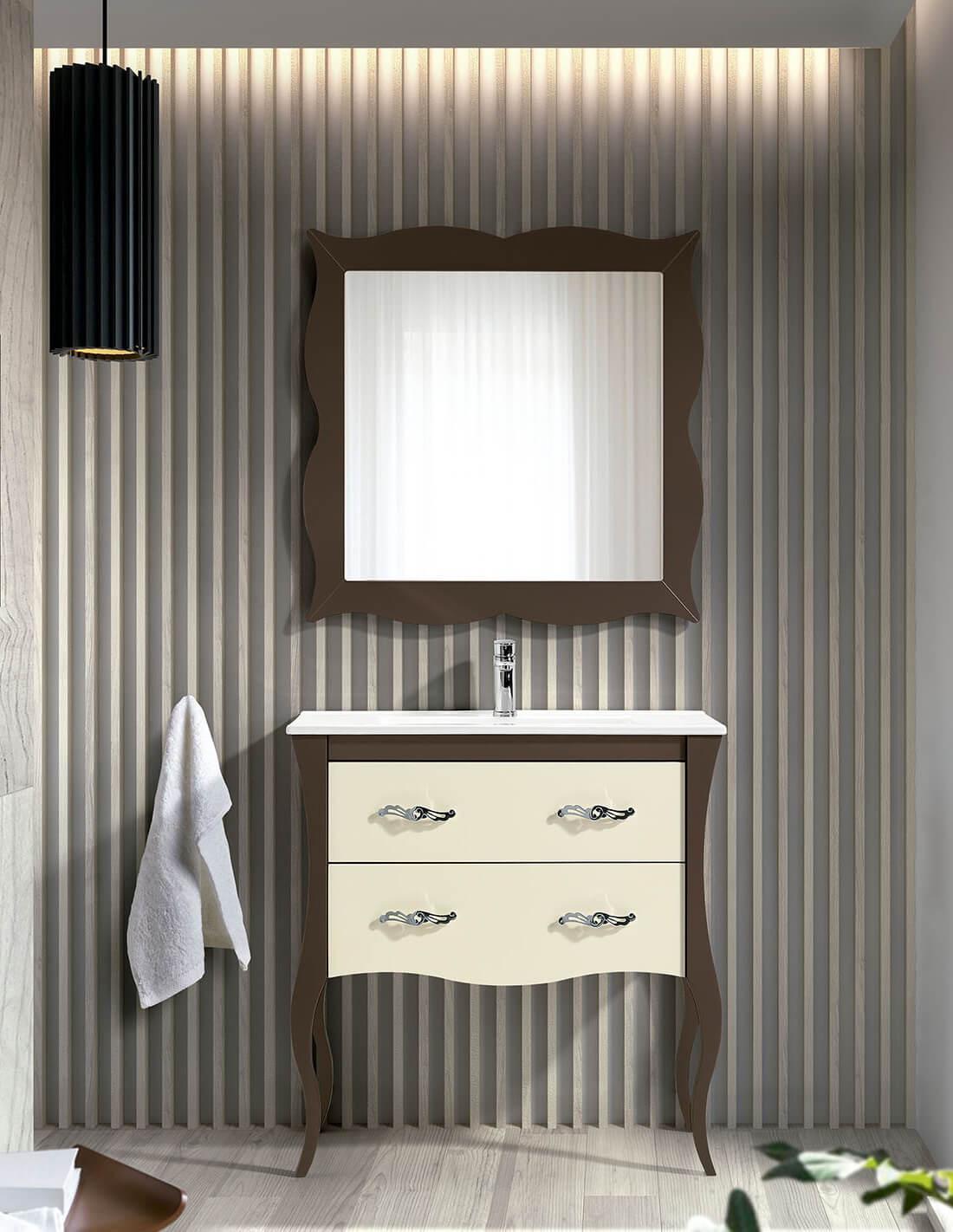Mueble de baño vintage con patas