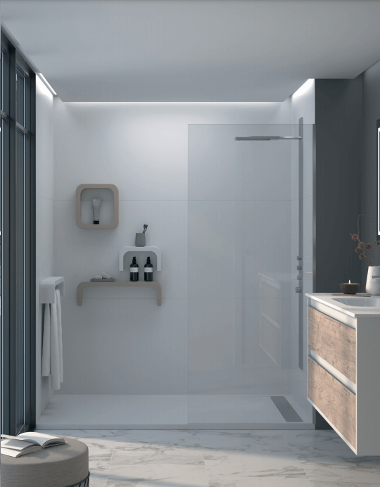 Panel de resina para ducha