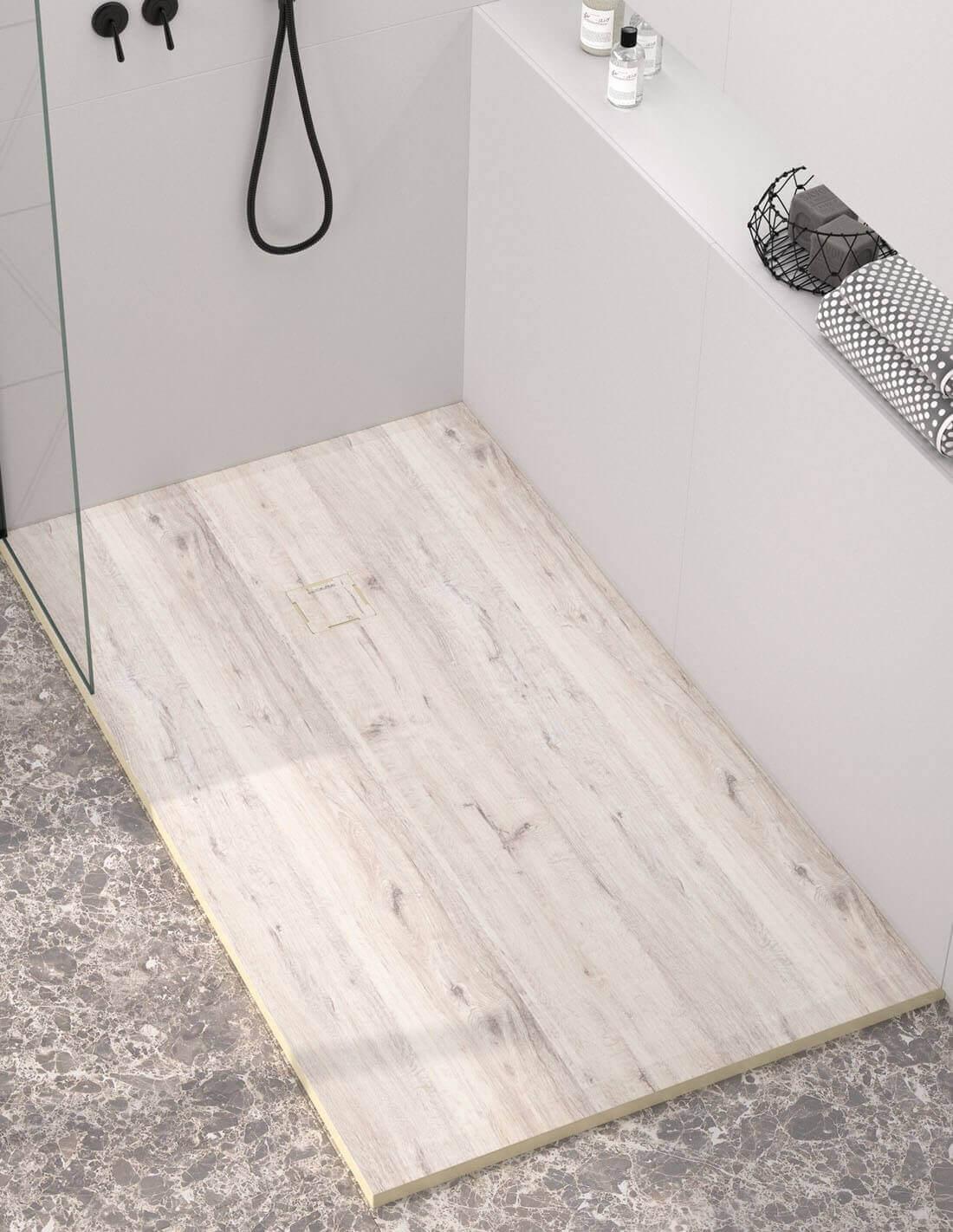 Plato de ducha de madera