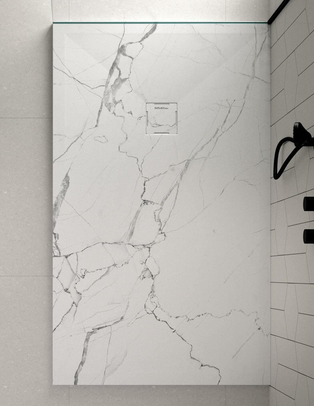 Plato de ducha de mármol