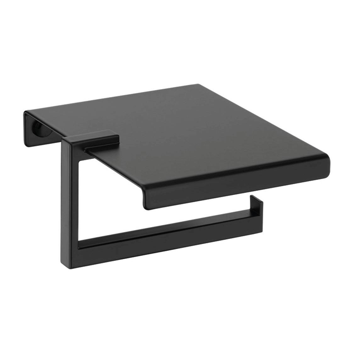 Portarrollos de baño negro modelo Plexo de PyP